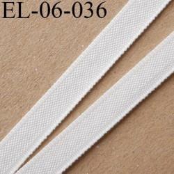 Elastique 6 mm fin spécial lingerie polyamide élasthanne couleur naturel écru fabriqué en France largeur 6  mm prix au mètre