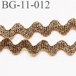 Galon croquet serpentine 11 mm  synthétique couleur noir et or style lurex largeur 11 mm prix du mètre