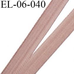 Elastique 6 mm fin spécial lingerie polyamide élasthanne couleur chair tamaris fabriqué en France largeur 6  mm prix au mètre