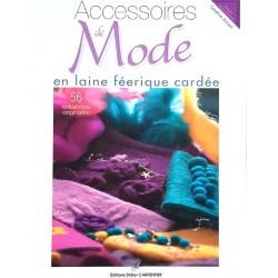 accessoires de mode en laine féerique cardée C.ARMANI livre revue 56 créatons
