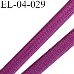 Elastique 4 mm fin spécial lingerie polyamide élasthanne couleur fuchsia foncé fabriqué en France largeur 4  mm prix au mètre