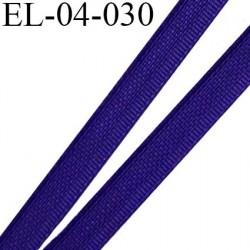 Elastique 4 mm fin spécial lingerie polyamide élasthanne couleur indigo fabriqué en France largeur 4  mm prix au mètre