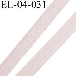 Elastique 4 mm fin spécial lingerie polyamide élasthanne couleur rose poudre fabriqué en France largeur 4  mm prix au mètre