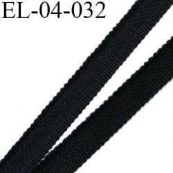 Elastique 4 mm fin spécial lingerie polyamide élasthanne couleur noir fabriqué en France largeur 4  mm prix au mètre