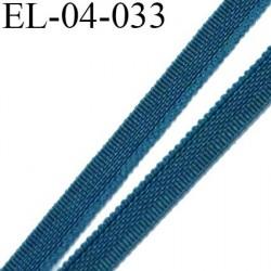 Elastique 4 mm fin spécial lingerie polyamide élasthanne couleur bleu sombrero fabriqué en France largeur 4  mm prix au mètre