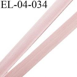Elastique 4 mm fin spécial lingerie polyamide élasthanne couleur rose clair fabriqué en France largeur 4  mm prix au mètre