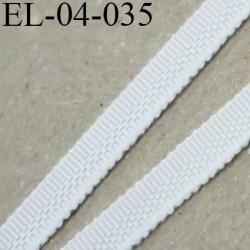 Elastique 4 mm fin spécial lingerie polyamide élasthanne couleur écru ivoire fabriqué en France largeur 4  mm prix au mètre