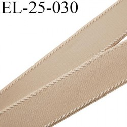 Elastique 25 mm bretelle bande soutien sg lingerie chair légèrement brillant  Fabriqué en France largeur 25 mm prix au mètre