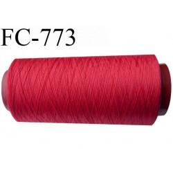 Cone 2000 m fil mousse polyamide n°120 couleur rouge longueur 2000 mètres  bobiné en France