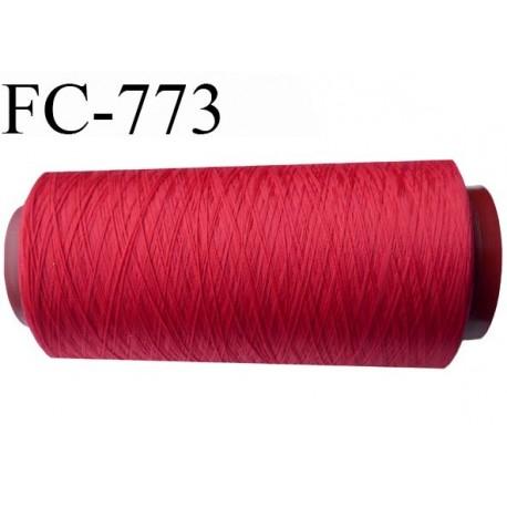 Cone 5000 m fil mousse polyamide n°120 couleur rouge longueur 5000 mètres  bobiné en France