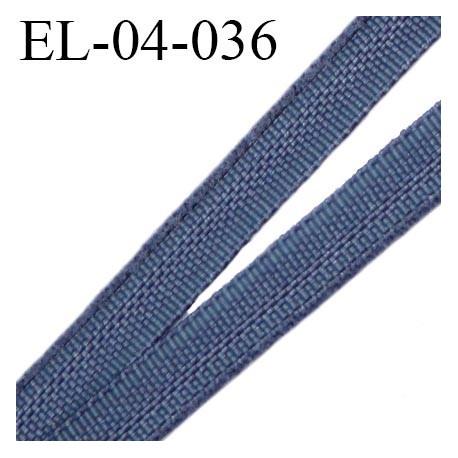 Elastique 4 mm fin spécial lingerie polyamide élasthanne couleur bleu gris fabriqué en France largeur 4  mm prix au mètre
