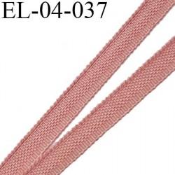 Elastique 4 mm fin spécial lingerie polyamide élasthanne couleur vieux rose fabriqué en France largeur 4  mm prix au mètre