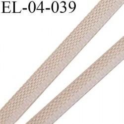 Elastique 4 mm fin spécial lingerie polyamide élasthanne couleur chair ou beige fabriqué en France largeur 4  mm prix au mètre