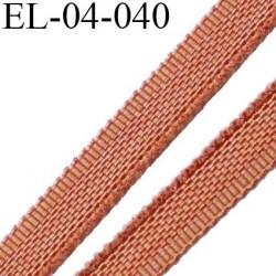 Elastique 4 mm fin spécial lingerie polyamide élasthanne couleur rouille fabriqué en France largeur 4  mm prix au mètre