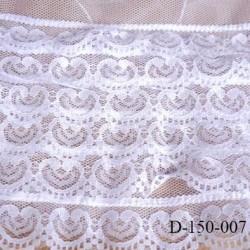 Dentelle sur tulle 150 mm composé de 6 bandes de dentelles les une au dessus des autres largeur 15 cm prix au mètre