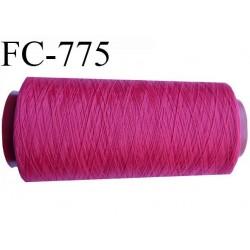 Cone 1000 m fil mousse polyamide n°120 couleur framboise ou fushia foncé longueur 1000 mètres  bobiné en France