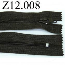 fermeture éclair longueur 12 cm couleur vert kaki non séparable zip nylon largeur 2.5 cm