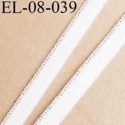 élastique 8 mm + 1 mm  picot  aspect velours spécial lingerie de grande marque  couleur naturel prix au mètre