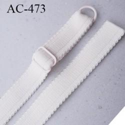 Bretelle 16 mm lingerie SG couleur crème rosé très haut de gamme finition avec 1 barettes + 1 anneau prix a la pièce