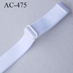 Bretelle 16 mm lingerie SG couleur blanc brillant haut de gamme finition 2 barettes  prix a la pièce