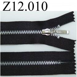 fermeture éclair longueur  12 cm couleur gris anthracite non séparable zip métal
