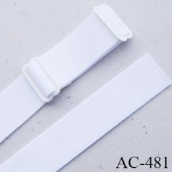 Bretelle 20 mm lingerie SG couleur blanc haut de gamme finition 2 barettes  prix a la pièce