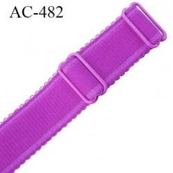 Bretelle 25 mm lingerie SG couleur pivoine haut de gamme grande marque  finition 2 barettes  prix a la pièce