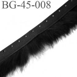 Galon ruban 45 mm en poils de lapins largeur de la bande style peau 20 mm largeur du poils 25 mm prix au mètre