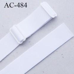 Bretelle 16 mm lingerie SG couleur blanc haut de gamme grande marque finition 2 barettes  prix a la pièce