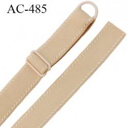 Bretelle 16 mm lingerie SG couleur chair très haut de gamme finition avec 1 barettes + 1 anneau prix a la pièce