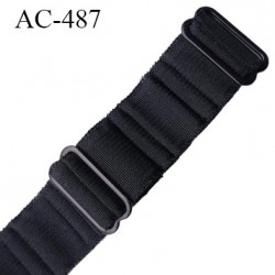 Bretelle 16 mm lingerie SG couleur noir  haut de gamme grande marque finition 2 barettes  prix a la pièce