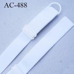 Bretelle 20 mm lingerie SG couleur blanc très haut de gamme finition avec 1 barettes + 1 anneau prix a la pièce