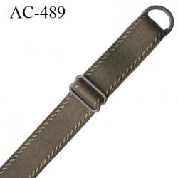 Bretelle 16 mm lingerie SG couleur muscade très haut de gamme finition avec 1 barettes + 1 anneau prix a la pièce