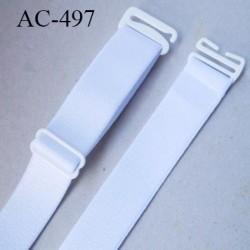 Bretelle 20 mm lingerie SG couleur blanc brillant haut de gamme grande marque finition 2 barettes  prix a la pièce