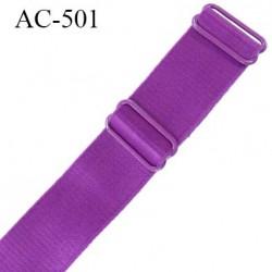 Bretelle 25 mm lingerie SG couleur pourpre haut de gamme grande marque  finition 2 barettes  prix a la pièce