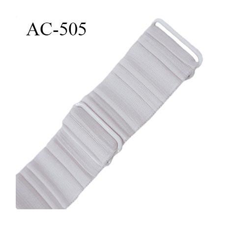 Bretelle 25 mm lingerie SG couleur quartz haut de gamme grande marque  finition 2 barettes  prix a la pièce