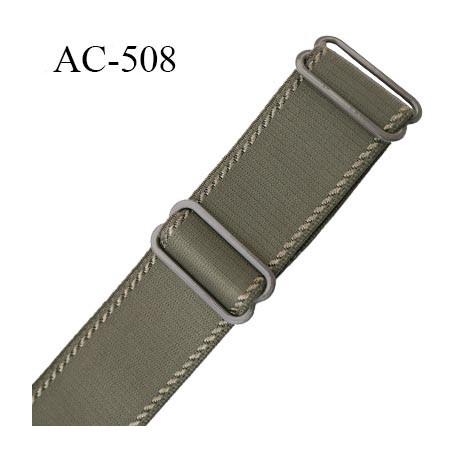 Bretelle 25 mm lingerie SG couleur muscade avec liserets haut de gamme grande marque  finition 2 barettes  prix a la pièce