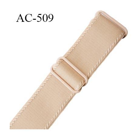Bretelle 25 mm lingerie SG couleur chair avec liserets haut de gamme grande marque  finition 2 barettes  prix a la pièce