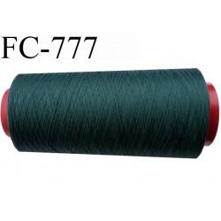 Cone de 1000 m fil mousse polyamide n° 120 couleur vert foncé longueur de 1000 mètres bobiné en France