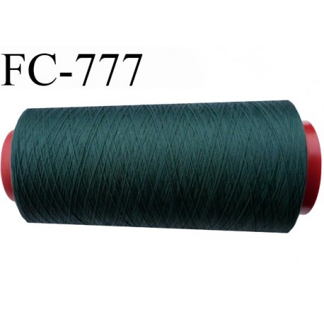 Cone de 5000 m fil polyester n° 120 couleur vert foncé longueur de 5000 mètres bobiné en France