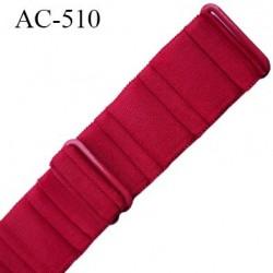 Bretelle 25 mm lingerie SG couleur rouge baiser cotelé haut de gamme grande marque  finition 2 barettes  prix a la pièce