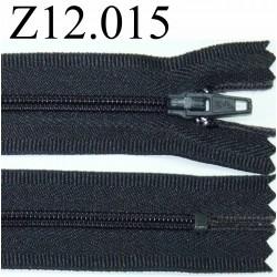 fermeture éclair longueur 12 cm couleur bleu gris anthracite très foncé  non séparable zip nylon