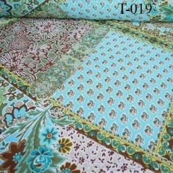 Tissus synthétique multicolor style mousseline très beau très léger 65 grs  m2 prix pour 10 cm de longueur et 152 cm de largeur