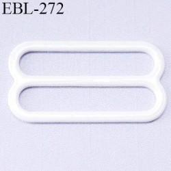 boucle de réglage 24 mm  réglette métal plastifié  blanc brillant pour soutien gorge largeur intérieur 24 mm  haut de gamme