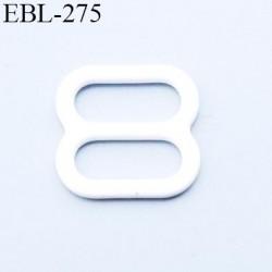 boucle de réglage 9 mm réglette métal plastifié blanc brillant  largeur 9 mm intérieur prix à l'unité haut de gamme