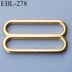 boucle de réglage 18 mm  réglette métal couleur doré or brillant pour soutien gorge largeur intérieur 18 mm  haut de gamme
