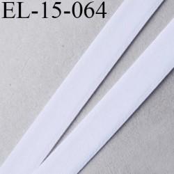 élastique sg ou lingerie 15 mm couleur blanc doux grande marque fabriqué en France largeur 15 mm prix au mètre