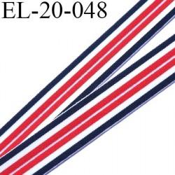 Elastique 20 mm lingerie superbe  couleur bleu blanc rouge Fabriqué en France  grande marque largeur 20 mm prix au mètre