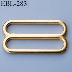 boucle de réglage 16 mm  réglette métal couleur doré or brillant pour soutien gorge largeur intérieur 16 mm  haut de gamme
