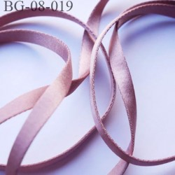 bretelle rigide 8 mm pour sg ou lingerie couleur bronze clair satin attache bretelle rigide  pour les anneaux  prix au mètre